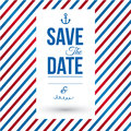 Save the date for personal holiday wedding invitation vector image Stock Photo