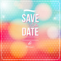 Save the date for personal holiday wedding invitation vector image Stock Images