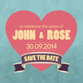 Save the date template vector illustration Royalty Free Stock Image