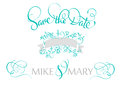 Save the date text for wedding. Calligraphy lettering Vector illustration EPS10