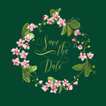 Save the Date Tropical Orchid Flowers Card, for Wedding, Invitation
