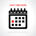 Save the date vector poster Royalty Free Stock Photo