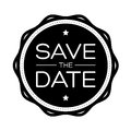Save the Date vintage lettering Royalty Free Stock Photo