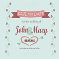 Save the date for the wedding Royalty Free Stock Photo