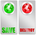 Save or destroy the earth and its environment Royalty Free Stock Photography