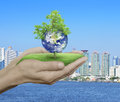 Save the earth concept, Elements of this image furnished by NASA Royalty Free Stock Photo
