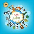 Save The Earth Concept Illustr...