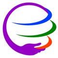 Save earth logo Royalty Free Stock Photo