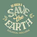 Save the Earth t-shirt design