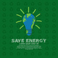 Save energy illustration conceptual vector Stock Photo