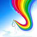 Save Every Drop - Abstract Rainbow Pencil Series Stock Photo