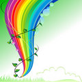 Save Greenery - Abstract Rainbow Pencil Series Royalty Free Stock Images