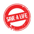 Save A Life rubber stamp