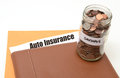 Save money on auto  or car insurance Royalty Free Stock Photo