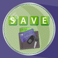 Save money, cards, car Royalty Free Stock Photo