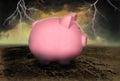 Save Money Debt Piggy Bank Royalty Free Stock Photo