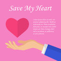 Save my heart concept for wedding or valentine day greeting card