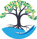 Save nature vector illustration of tree concept Stock Images