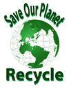 Save our planet recycle this is a isolated vector on a white background Royalty Free Stock Photos