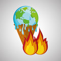 Save planet design. ecology icon. Think green concept, vector illustration Royalty Free Stock Photo