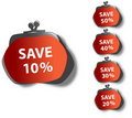 Save stickers Royalty Free Stock Photography