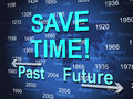 Save time represents high speed and brisk meaning fast track Royalty Free Stock Photo