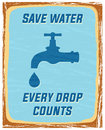 Save water every drop counts poster Stock Image