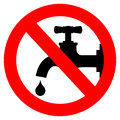 Save water sign vector illustration Stock Images