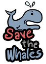 Save the whales creative design of Stock Photo