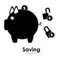 Saving icons over white background vector illustration Royalty Free Stock Photos