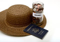 Saving money for a vacation international traveling or Stock Photography