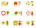 Saving Natural Resources Icon Set Stock Photography
