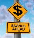 Savings Ahead Royalty Free Stock Photo