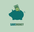 Savings design over blue background vector illustration Stock Image