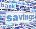 Savings message conceptual design Stock Images