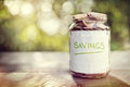 Savings money jar Royalty Free Stock Photo