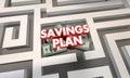 Savings Plan Maze Budget Grow Money Wealth Royalty Free Stock Photo