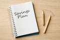 Savings plan Royalty Free Stock Photo