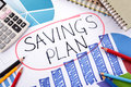 Savings plan, investment growth chart Royalty Free Stock Photo