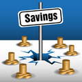 Savings plate Royalty Free Stock Image