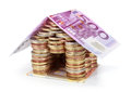 Savings for real estate project roof € isolated Stock Photo