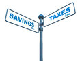 Savings and taxes Stock Image