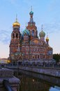 Savior on blood church of the in saint petersburg russia Royalty Free Stock Photography