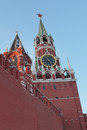 Savior tower red square moscow on Stock Photography