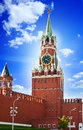 The Saviour (Spasskaya) Tower of Moscow Kremlin Royalty Free Stock Photos