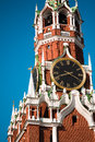 Saviour spasskaya tower on red square in moscow kremlin russia Royalty Free Stock Images