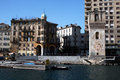 Savona a view of the tower doria at in italy from the sea Royalty Free Stock Photography