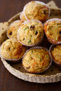 Savory cheese cranberry muffin Royalty Free Stock Photography