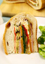 Savory Cob Loaf Slice Royalty Free Stock Photo
