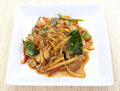 Savory curry with chicken and bamboo Royalty Free Stock Photography